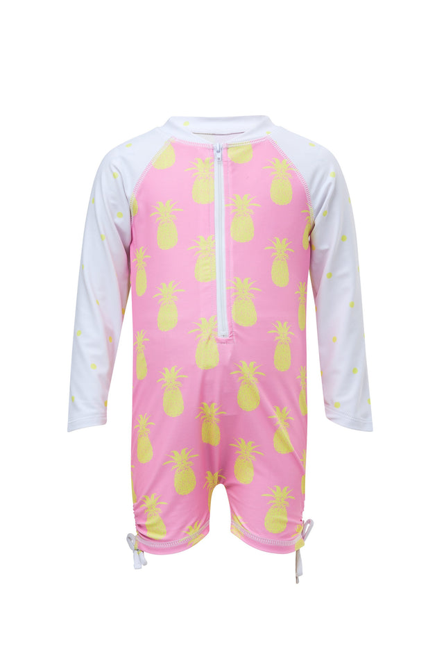 Pineapple Spot LS Sunsuit