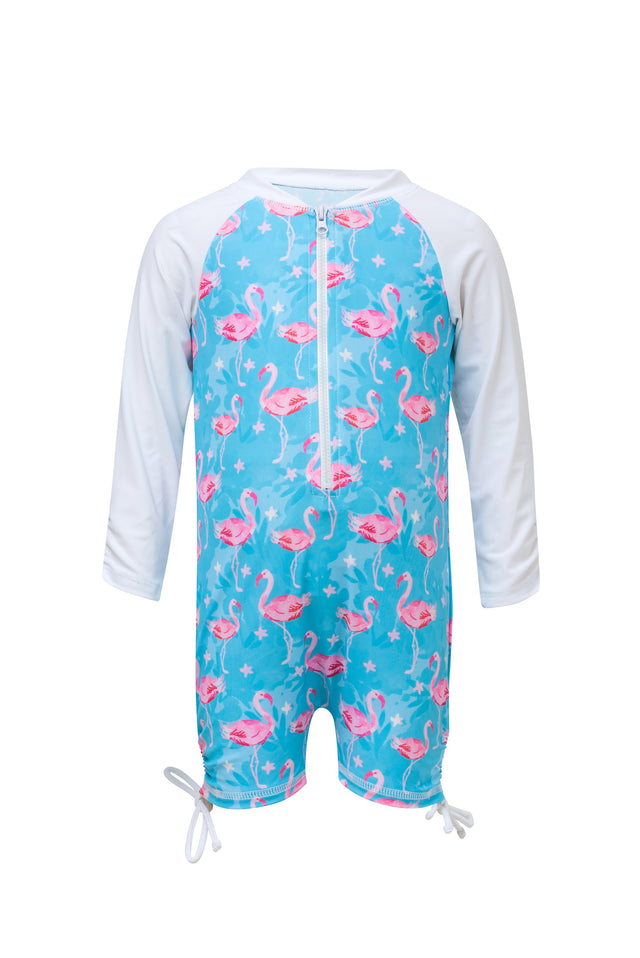 Blue Flamingo LS Sunsuit