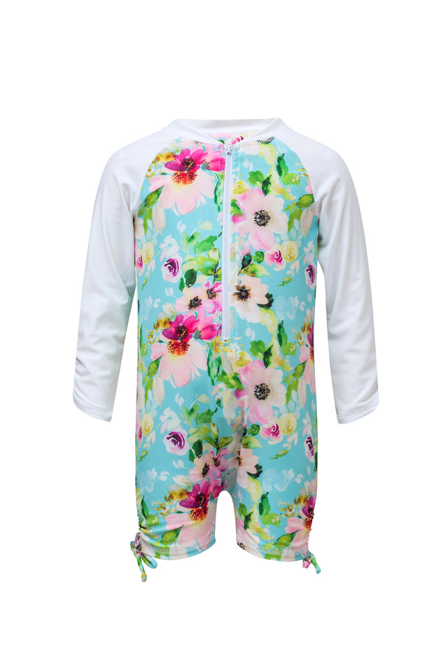 Watercolor Floral LS Sunsuit