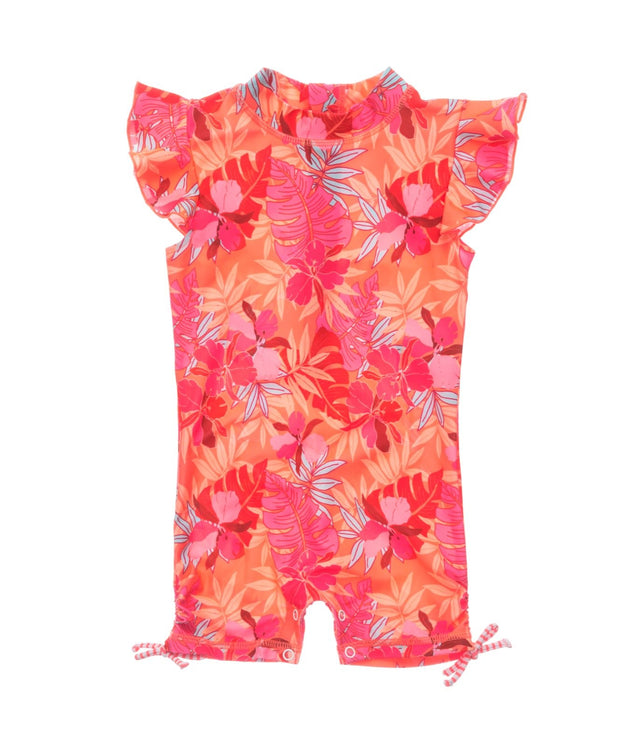 Tropical Punch Flutter Sleeve Sunsuit