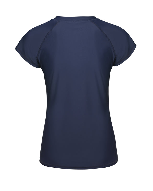 Womens Capri Short Sleeve Rash Top