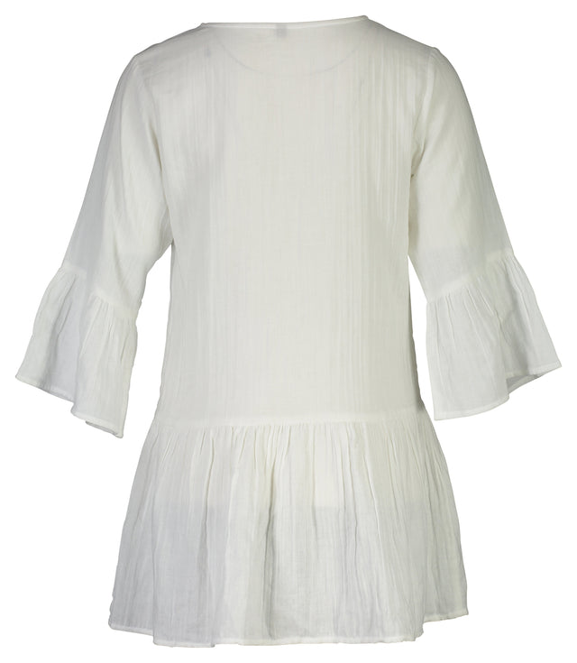 Ladies White Organic Cotton Kaftan