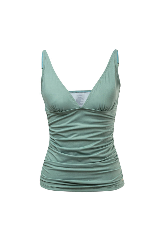Ladies Sage Ruched Tankini Top