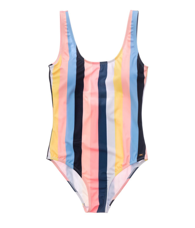 Ladies Opti Stripe Scoop Swimsuit