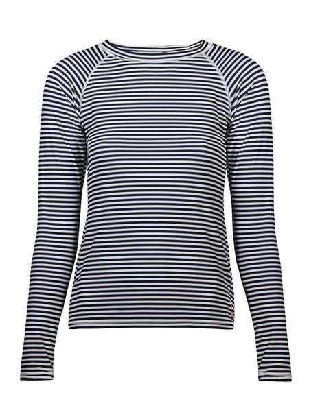 Womens Waiheke Stripe Long Sleeve Rash Top