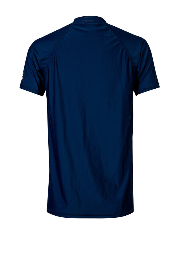 Men's Navy Short Sleeve Rash Top