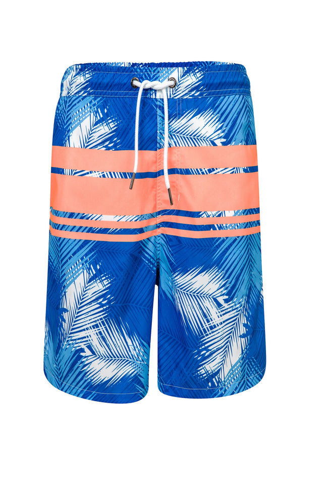 Men's Tropical Neon Stripe Boardie