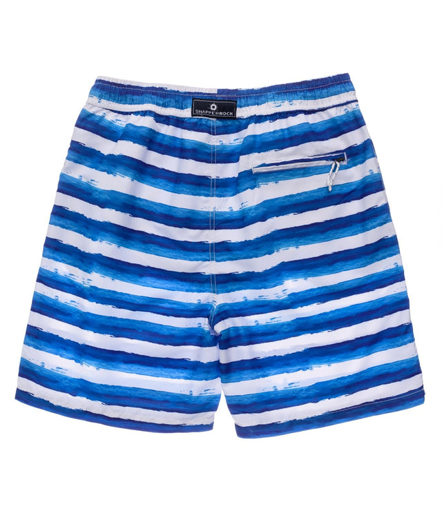 Mens Sunset Stripe Volley Board Short