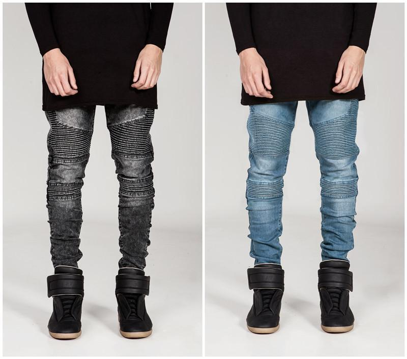Fashion  Cool Slim Hole Packets Jeans Pants