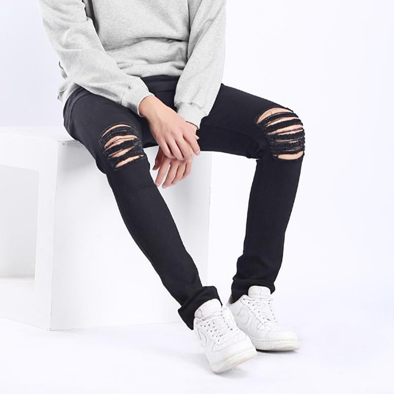 High Street Knee Hole Slim Fit Jeans