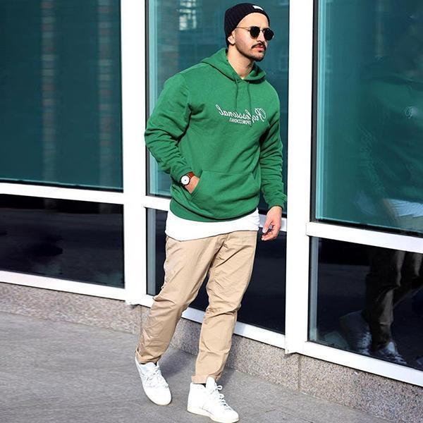 Sports Simple Printed Hooded Sweatshirt