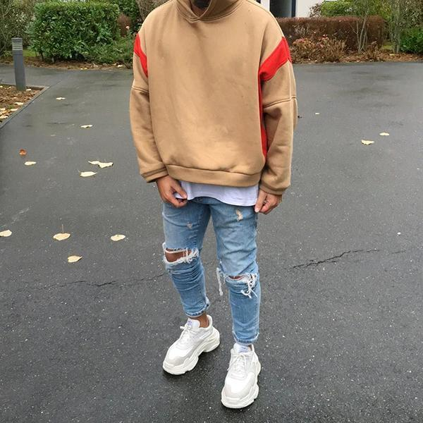 Men's Hooded Loose Fit Sweatshirt
