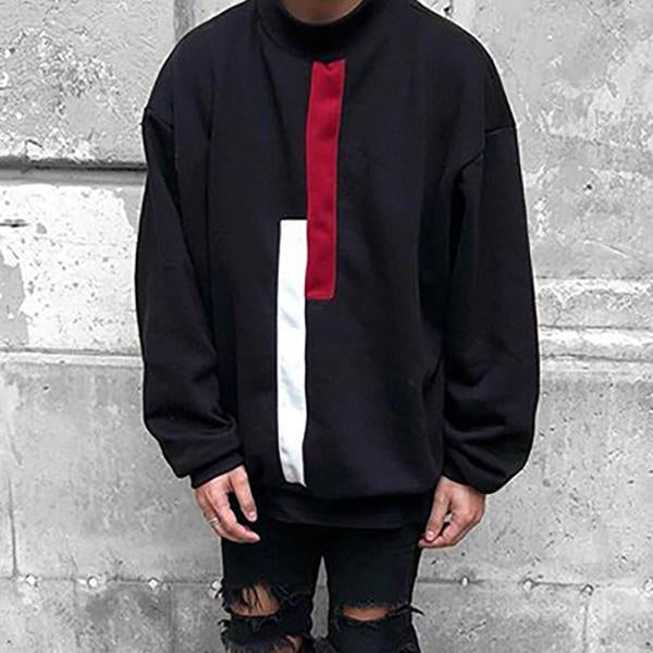 Men's Fashion Solid Color Loose Sweatshirt