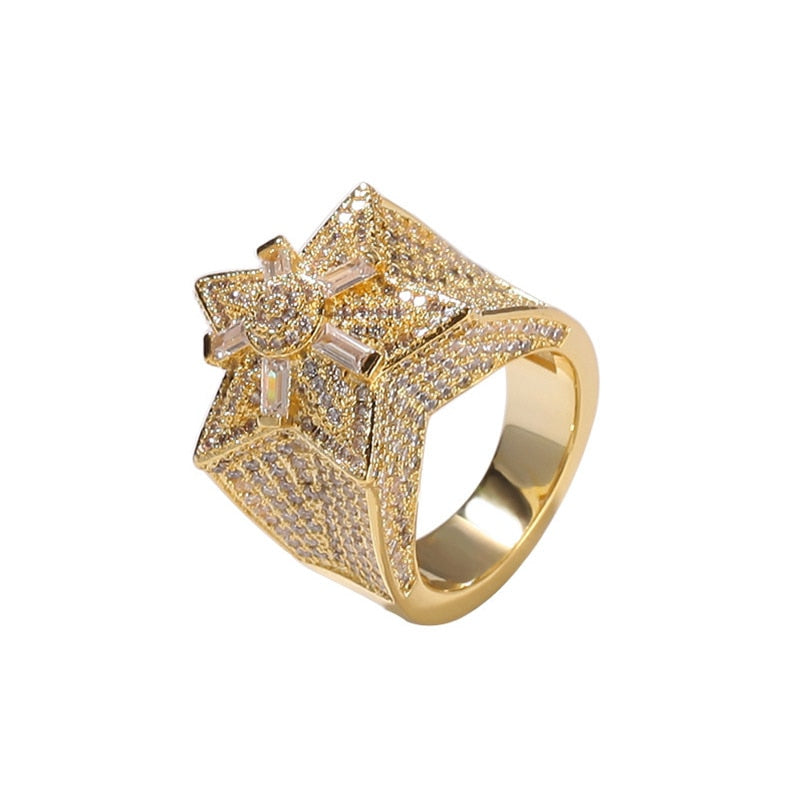 BAGUE ICE STAR - Drip Paname