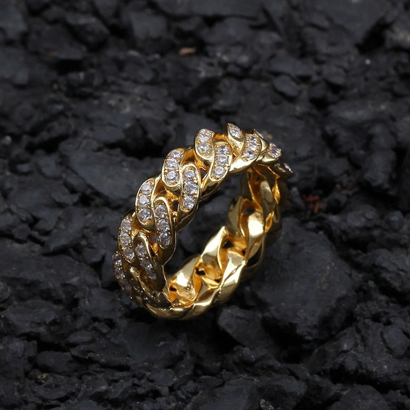 BAGUE ICE CUBAN LINK - Drip Paname