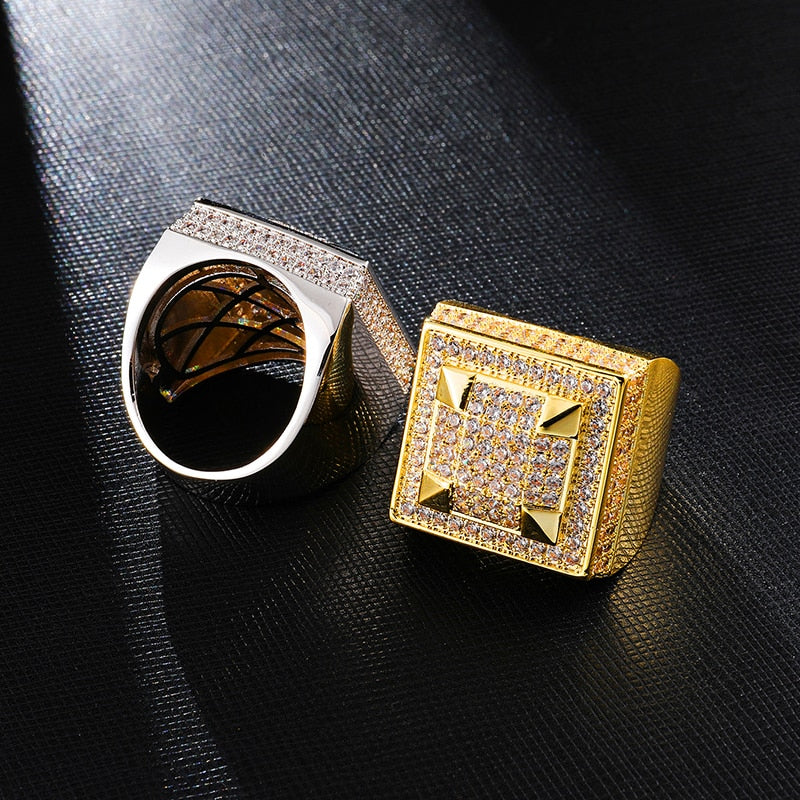 BAGUE ICE SQUARE - Drip Paname