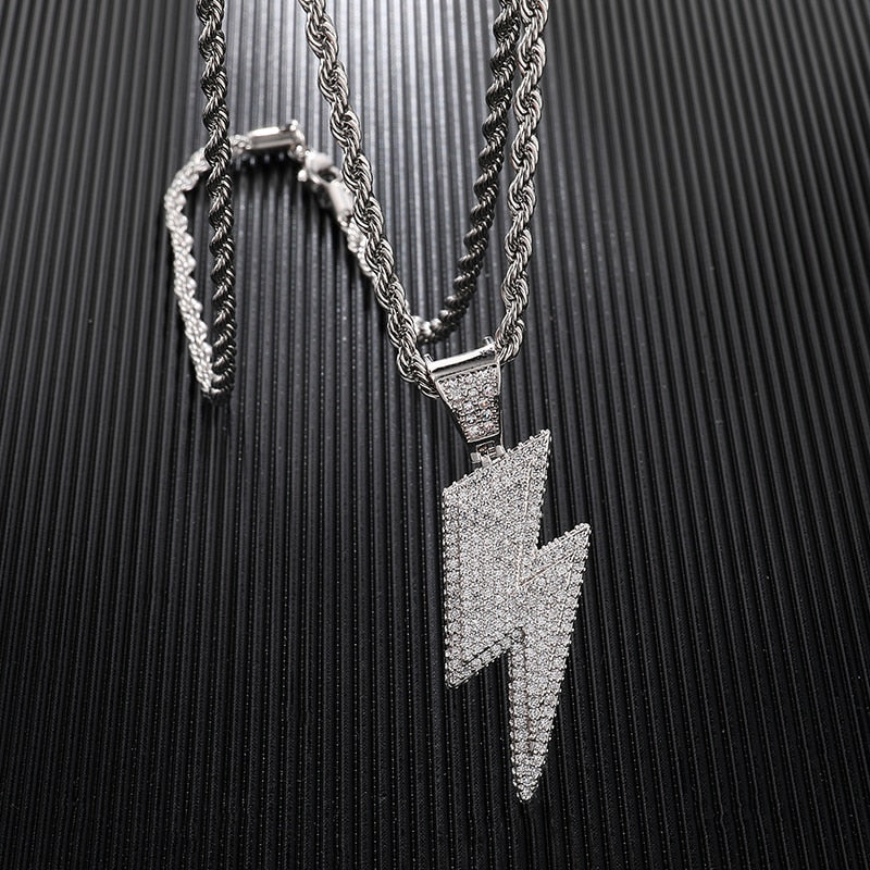 PENDENTIF ICE THUNDERBOLT - Drip Paname