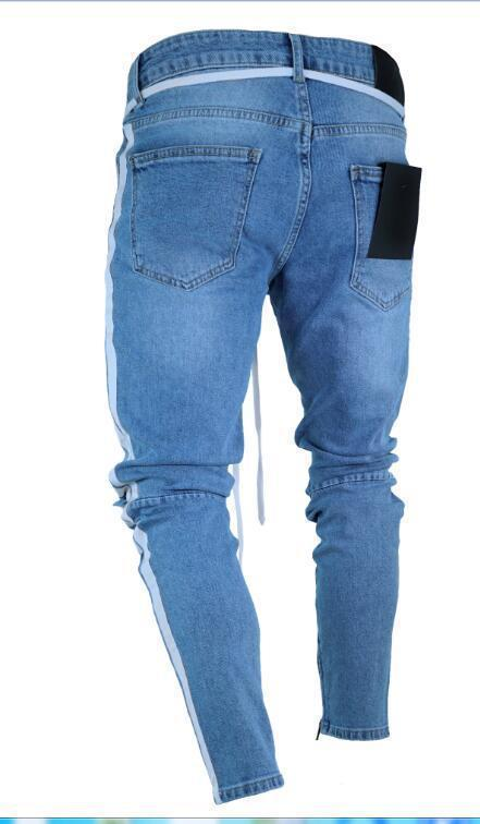 Men's Slim Trousers Hole Jean