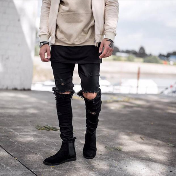 Men's High Street Ripped Jeans