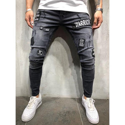 Fashion Street Style Slim-Fit Ripped Jeans