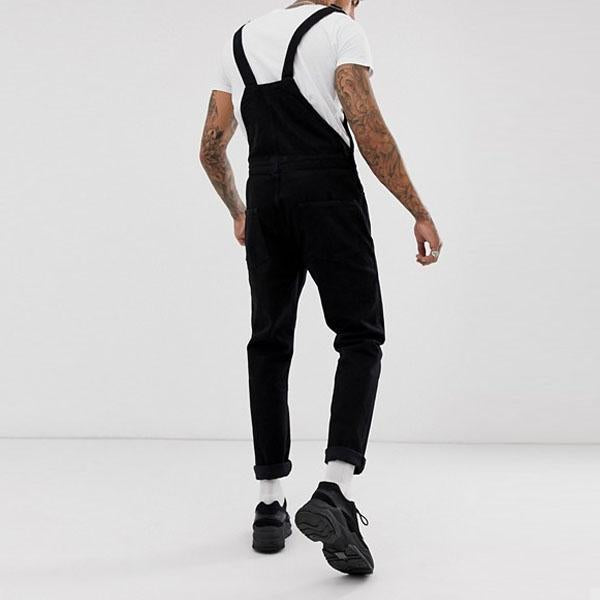 Fashion Men's Denim Straps Trousers