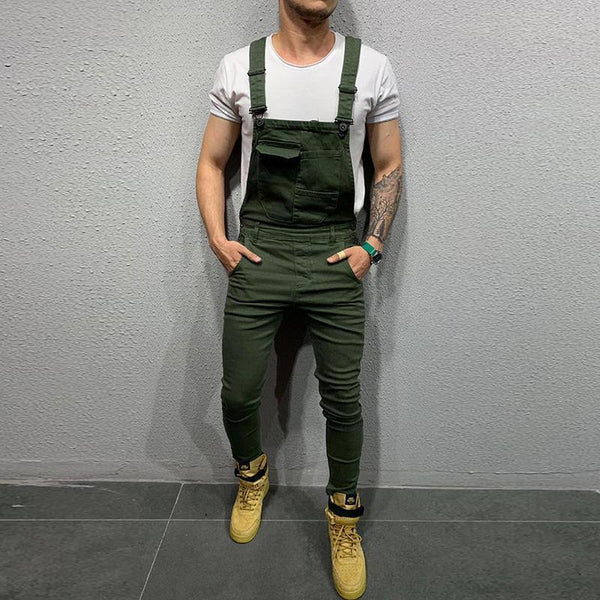 Men's Fashion Solid Color for Men Denim Overalls