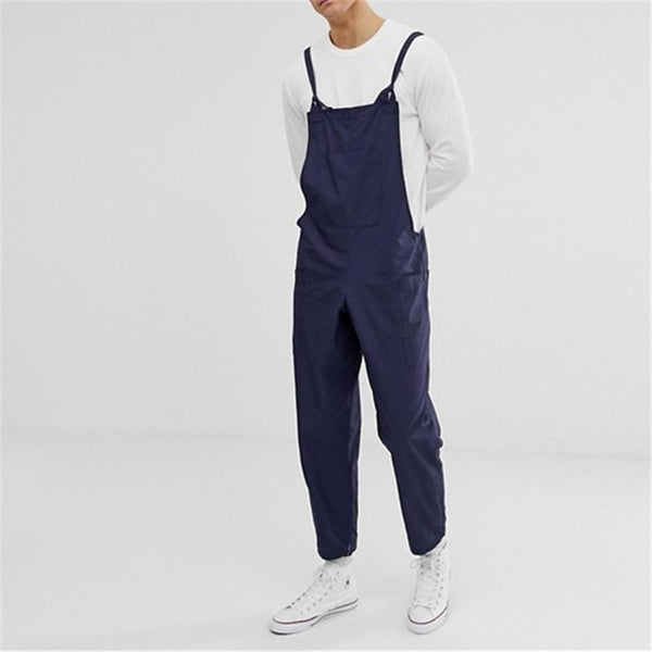 Casual Slim Solid Color Jumpsuit