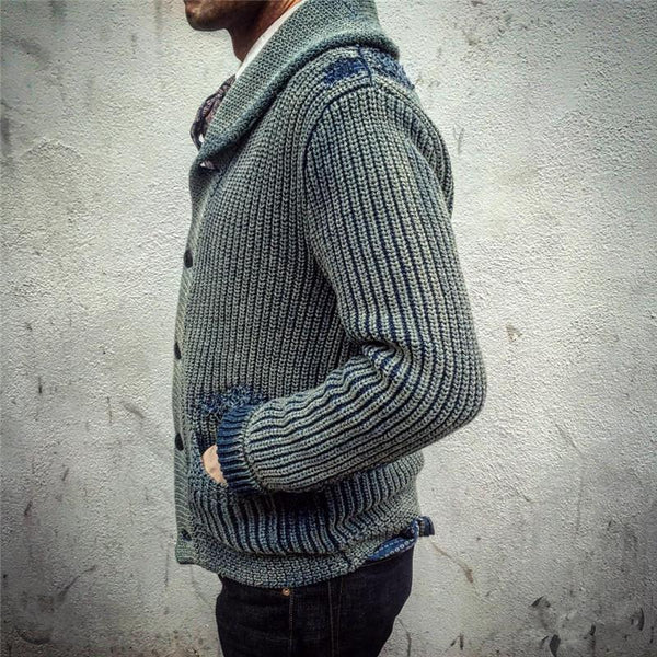 Autumn And Winter Single-Breasted Knit Top