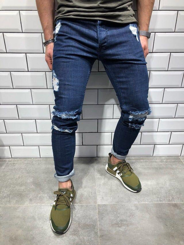Men's Hole Denim Trousers