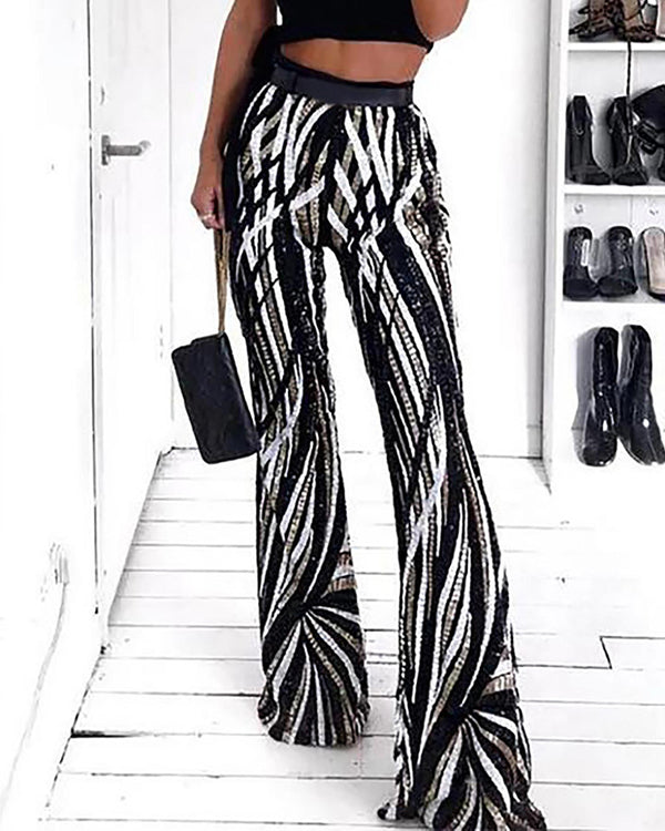 Sassy Curves Flare Trousers