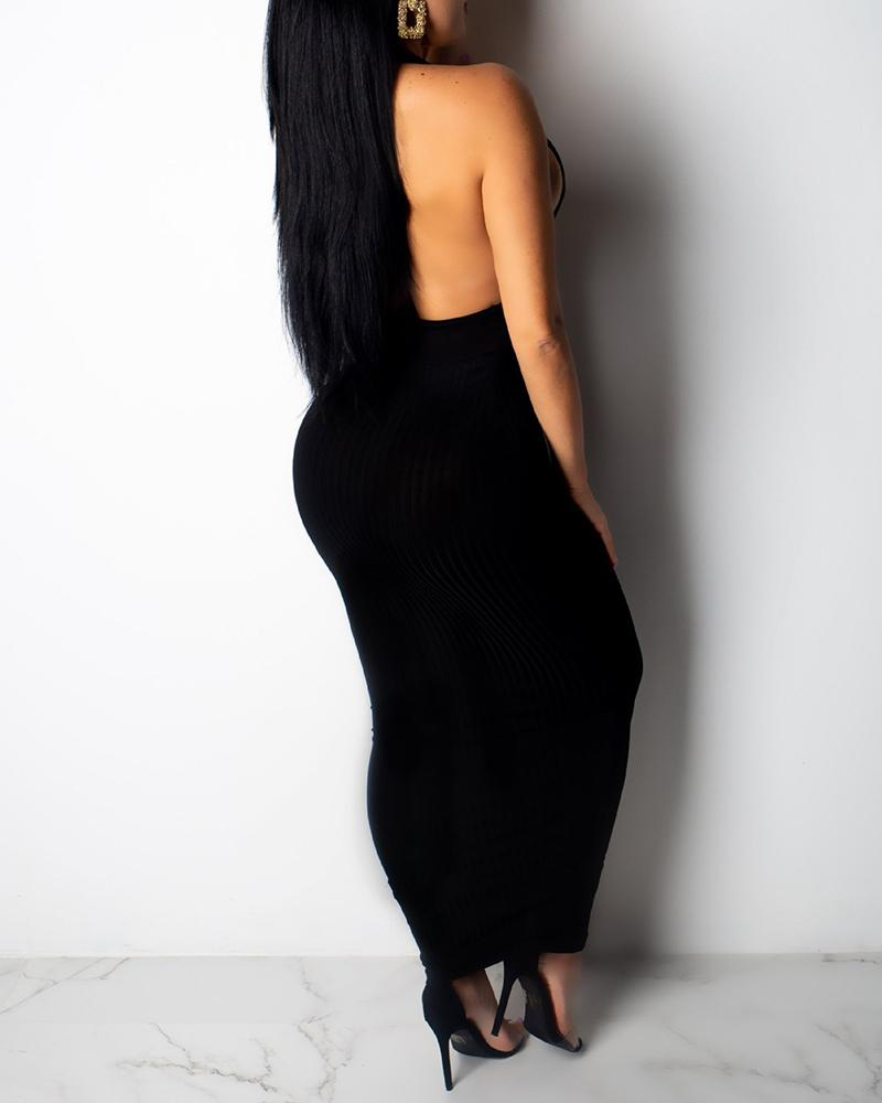 V Neck Sexy Hanging Neck Dress