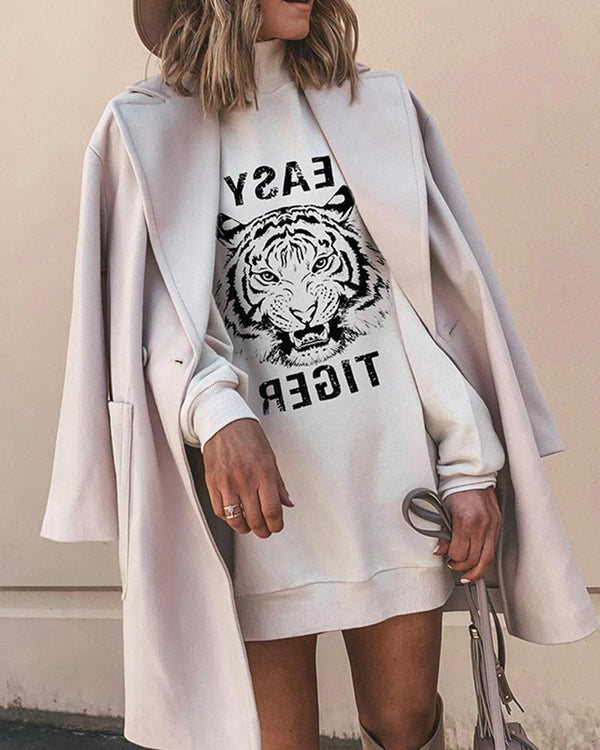 Tiger Head Long Sleeve Sweatshirt