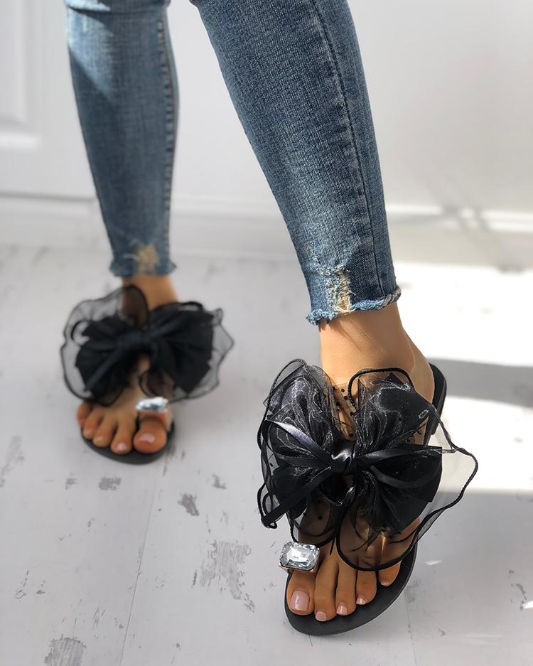 Women's Cute Bowtie Decorate Non-Slip Sandals