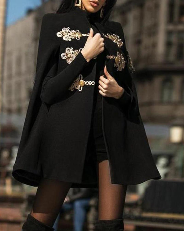 Vintage Embroidered Cape Coat