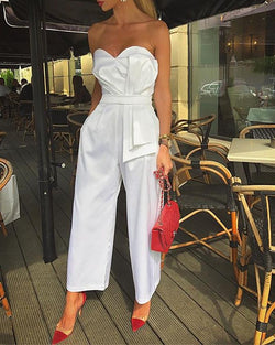 Sweetheart Neck Bow-Knot Jumpsuit