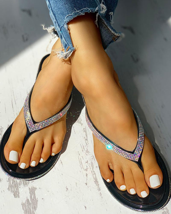 Glitter Sequin Embellished  Sandals