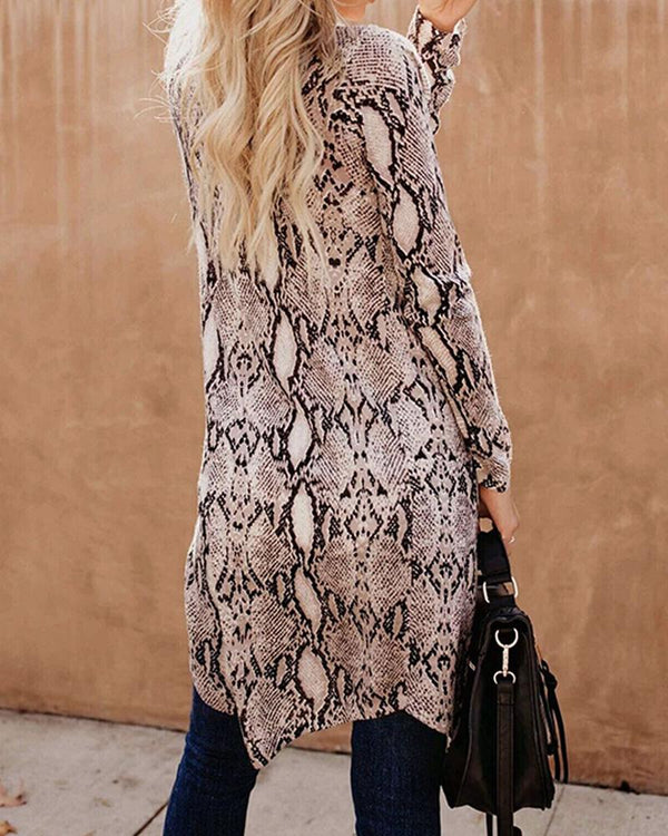 Open Front Long Sleeve Cardigan