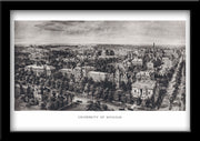 Restored Lithograph University of Michigan Ann Arbor MI 1908