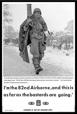 82nd Airborne Battle of the Bulge Bastards Poster 12x18 Poster