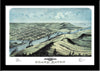 Grand Haven, Michigan • Bird's eye view map of Grand Haven, Michigan 1868 by A. Ruger