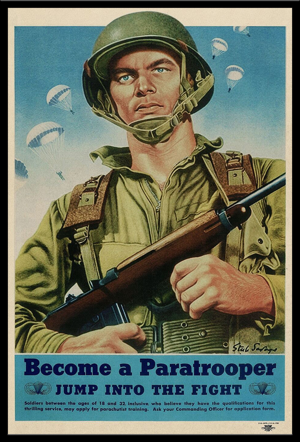 Become a Paratrooper - Jump into the Fight! poster reproduction.