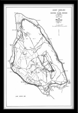 Mackinac Island • Map Reproduction Ancient Shorelines of Mackinac Island - 1946