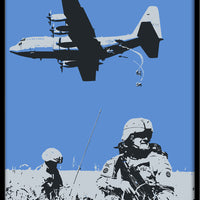 Exclusive! Stay Army Stay Airborne 12x18 Poster