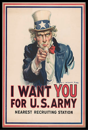 Classic James Montgomery Flagg Uncle Sam 12x18 Poster