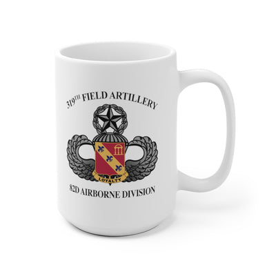 319th DUI & Jump Wings Field Artillery Regiment Mug