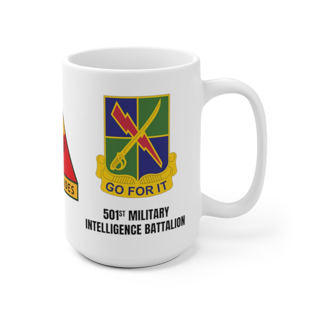"501st Military Intelligence Battalion ""GO FOR IT"" Throwback Mug"
