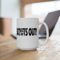 Scouts Out! Cut-Out Text Mug