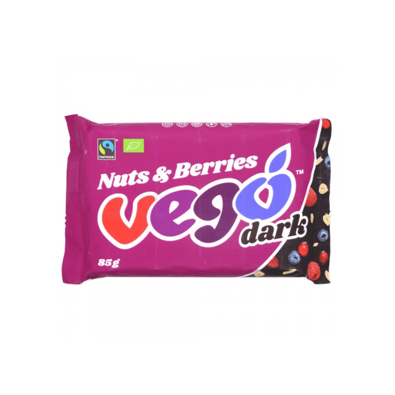 Vego Dark Chocolate Nuts & Berries (80g) - Nutrition Capital