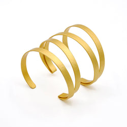 gold multi-band adjustable cuff bracelet