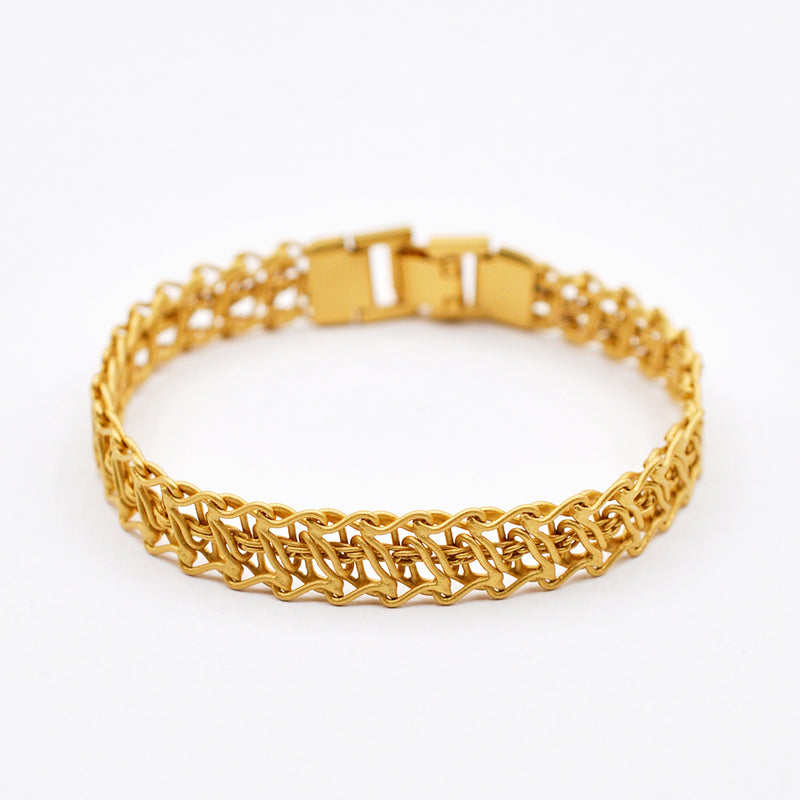 thin gold chain bracelet